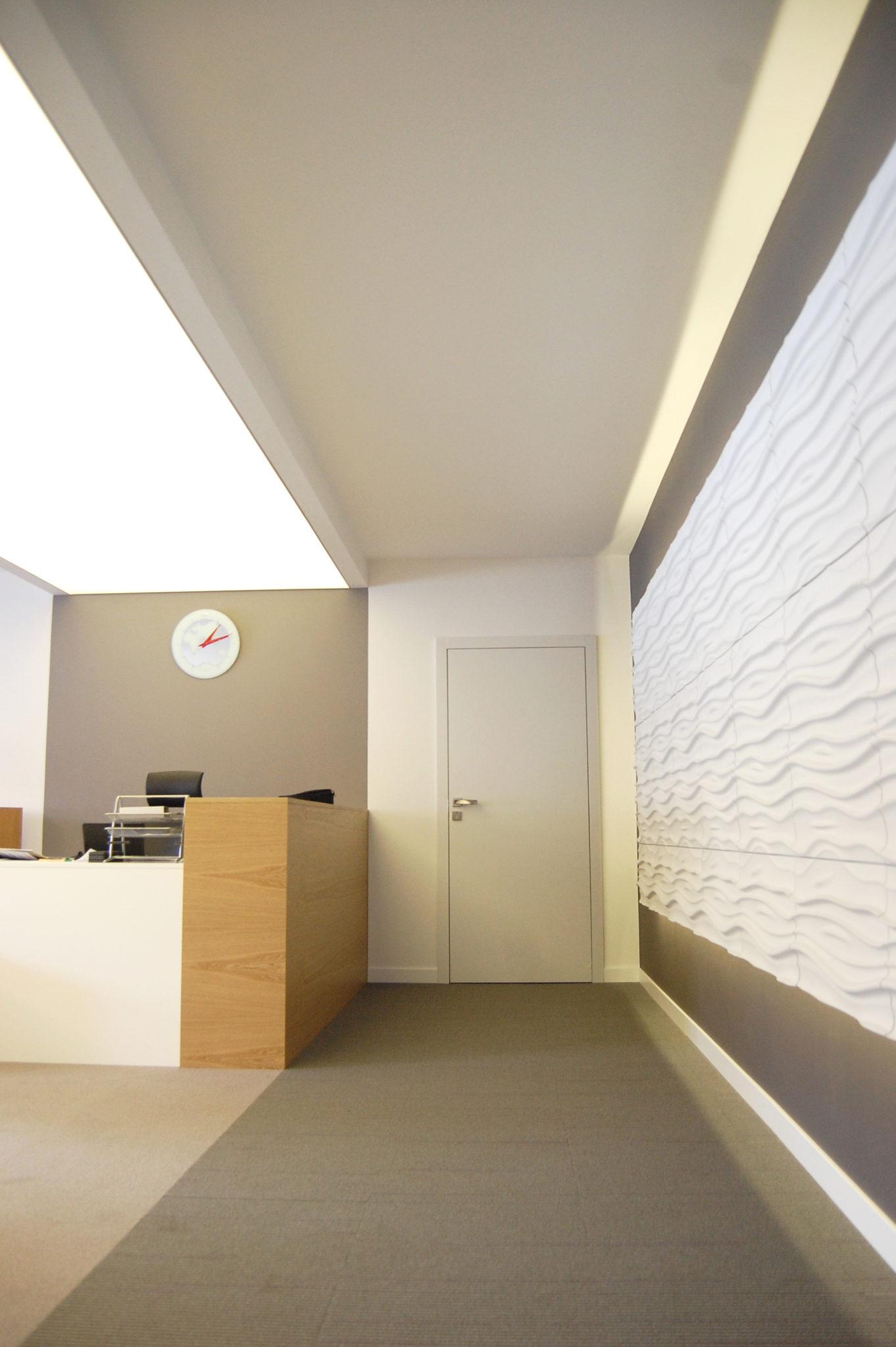 biuro Sopoliński, projekt wnętrz, architekt, koru, julia koczur, czerwony akcent, sufit napinany 01