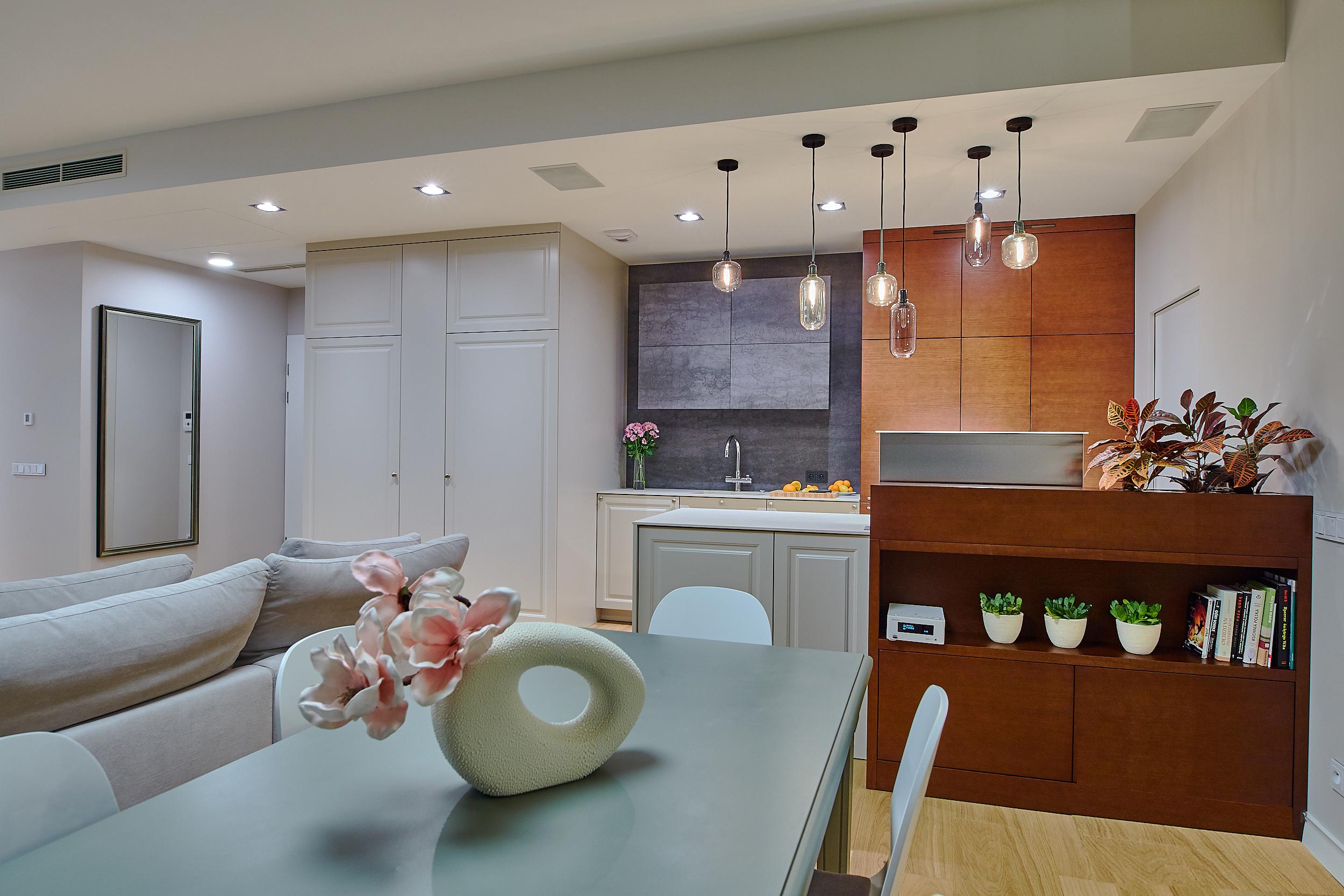 salon, apartament ovo, projekt wnętrz, architekt, jasne wnętrze, pastele, julia koczur, koru 11